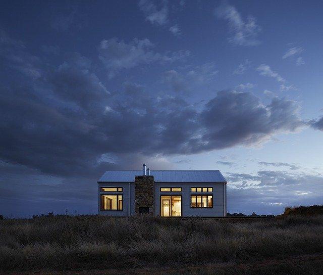mobilní dům na samotě