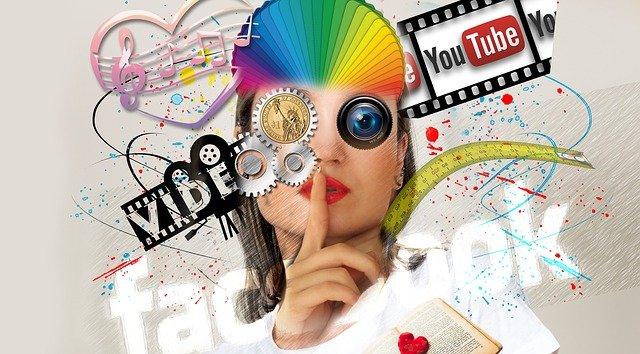 hlava ženy a youtube