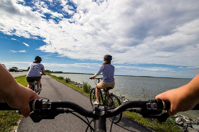 cyklisté na stezce