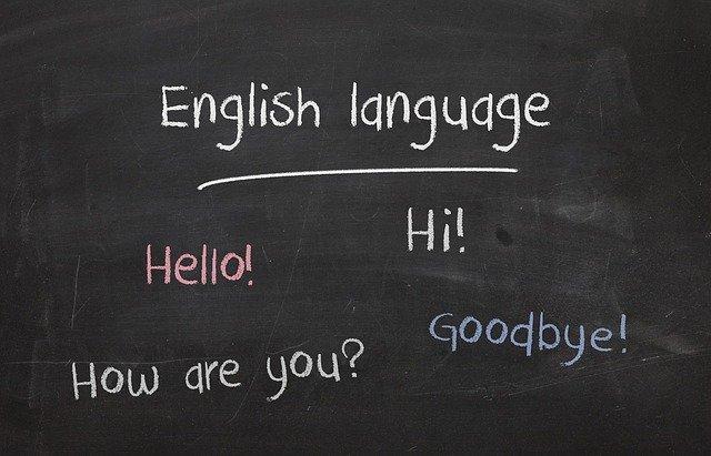 anglický jazyk a pozdravy