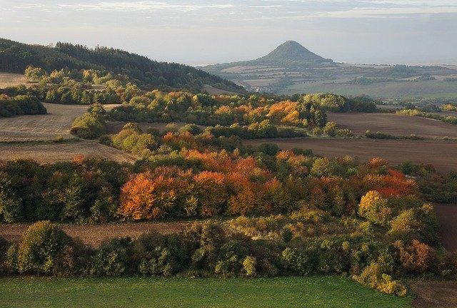 české středohoří na podzim