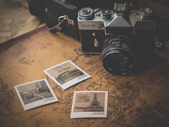 mapa pod foťákem