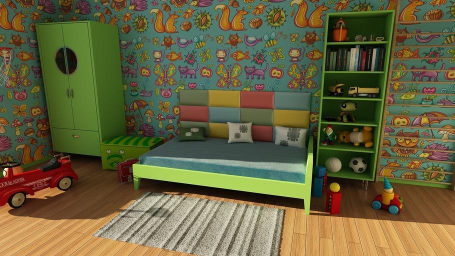 Dětský pokojíček v zelených barvách