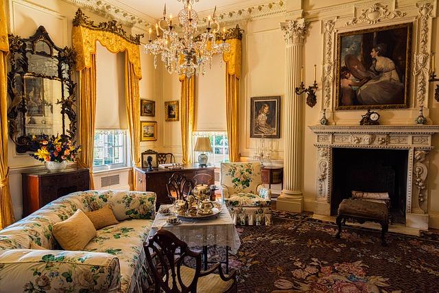 historický obývací pokoj